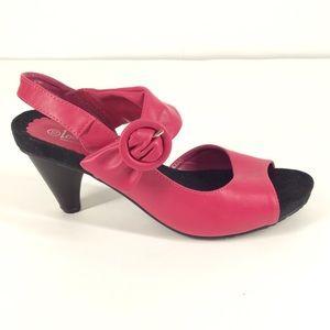 Lena Luisa pink mid heels size 10
